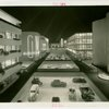 General Motors - Building - Interior concourse with cars at night