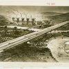 General Motors - Futurama - Sketch of bridge and factories