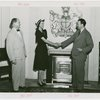 Great Britain Participation - Miss Bermuda shaking hands with Sir Louis Beale