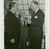Greece Participation - Grover Whalen receiving gold medal of honor from Greek veterans