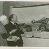Hall of Invention - Sir Hubert Wilkins and Kyra Markham preparing diorama