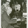 Hall of Invention - Leila Livingstone Morse watching Harvey Gibson at telegraph machine