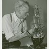 Hall of Invention - Patrick Tayleur with model of U.S.S. Constitution