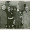 Warren Austin, Messmore Kendall, Robert Bullard and Harvey Gibson at Independence Day ceremonies