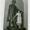 Illinois Participation - Statues of Abraham Lincoln - Woman with statue (C.V. Hunt)