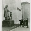 Illinois Participation - Statues of Abraham Lincoln - A.J. Lorenzen , Harvey Gibson and Dennis Nolan looking at statue (C.V. Hunt)
