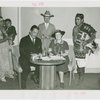Indian (Native American) Participation - Idena Powell and Grover Whalen signing contract with Native Americans in attendance