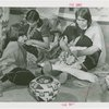 Indian (Native American) Participation - Hopi women weaving baskets