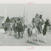 Indian (Native American) Participation - Hopi men and women on horseback