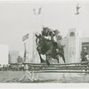 Indian (Native American) Participation - Haskell Institute guard on horseback jumping