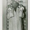 Infant Incubator - Martin Couney holding two babies