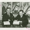 Ireland Participation - Grover Whalen and Leo T. McCauley (Irish Free State Consul General) sign contract