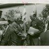 Jewish-Palestine Participation - Einstein, Albert - Shaking hands with official