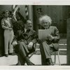 Jewish-Palestine Participation - Einstein, Albert - Sitting with Grover Whalen