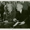Jewish-Palestine Participation - Einstein, Albert - Sitting with man