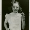 Kentucky Day - Girl holds proclamation