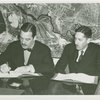 League of Nations - Grover Whalen and Noel Field sign contract