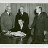 League of Nations - Bery Gerig (Acting Commissioner General) signs guest register