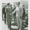 Maine Participation - Lewis O. Barrows (Governor) and Rudy Vallee shake hands