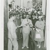 Maine Participation - Lewis O. Barrows (Governor) cuts ribbon at Maine exhibit