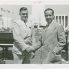 Maine Participation - Lewis O. Barrows (Governor) and John S. Young shake hands