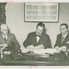Man Building - Grover Whalen and William C. Segal and John Starbuck at contract signing