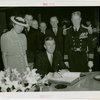 Massachusetts Day - Leverett Saltonstall signing guestbook