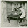 Medicine and Public Health - Diorama of man packaging radium (Francis Rigney)