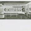 Medicine and Public Health - Sketch of exhibit on pneumonia
