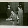 Minnesota Participation - H.E. Stassen signing guestbook