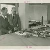 Nebraska Day - Leslie Baker and Gwyer Yates looking at model of Fair