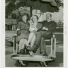 New Jersey Participation - Miss Atlantic City in pushcart with Charles White and wife