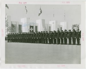 New York City - Police Dept. - Policemen at attention