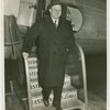 New York World's Fair - Employees - Edward Roosevelt stepping off of airplane