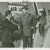 New York World's Fair - Employees - Julius Holmes greeting Marshall Dill and wife