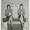 New York World's Fair - Employees - Females - Women in uniform sit on bench