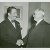 New York World's Fair - Employees - Gibson, Harvey (Chairman of Board) - Shaking hands with Grover Whalen