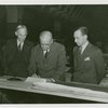 New York World's Fair - Employees - Gibson, Harvey (Chairman of Board) - With men signing papers