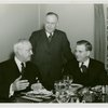 New York World's Fair - Employees - Gibson, Harvey (Chairman of Board) - With two men at dinner