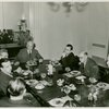 New York World's Fair - Employees - Gibson, Harvey (Chairman of Board) - With committee members eating lunch