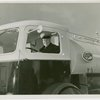 New York World's Fair - Employees - Gibson, Harvey (Chairman of Board) - At wheel of truck