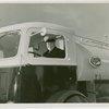 New York World's Fair - Employees - Gibson, Harvey (Chairman of Board) - At wheel of truck