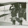 New York World's Fair - Employees - Police - Two policemen in uniform in front of Administration Building