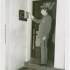 New York World's Fair - Employees - Police - Checking alarm system at Contemporary Arts Building