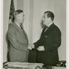 North Carolina Participation - W.E. Fenner shaking hands with Grover Whalen