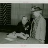 North Carolina Participation - Hoey, Clyde R. (Governor) - Signing guestbook