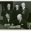 Norway Participation - Rolf A. Cristensen (Commissioner General) and Grover Whalen sign contract