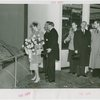 Norway Participation - Prince Olav and Princess Martha - Looking at exhibit with Grover Whalen