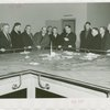 Ohio - Commission members and Grover Whalen looking at model