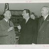 Ohio - Martin Davey (Governor) presenting Grover Whalen with a gavel